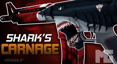 اسکین جدید و جذاب Shark's Carnage برای گان محبوب M4A1