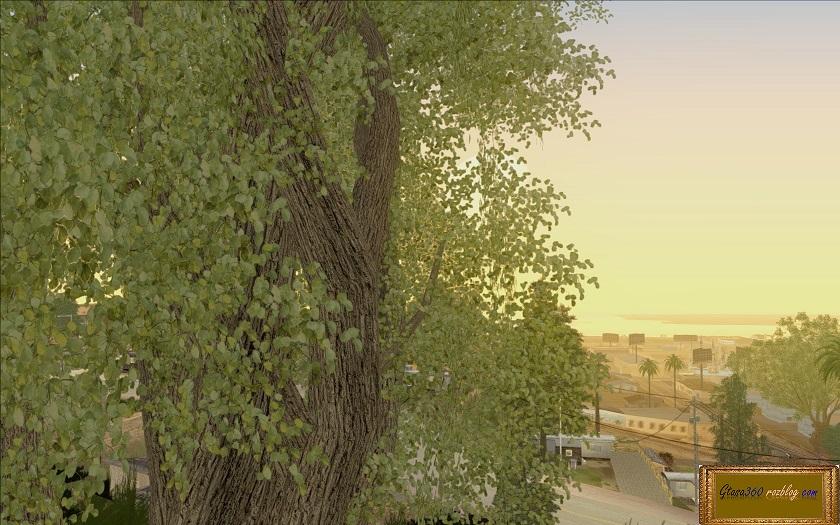 مود با کیفیت شدن درخت ها و چمن ها برای gta sa