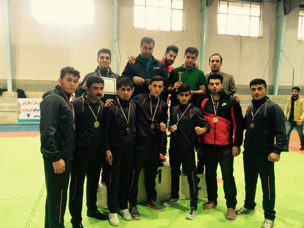 دانشگاه آزاد بوکان مقام دوم تیمی  مسابقات وشو قهرمانی دانشجویان در پیرانشهر را کسب کرد
