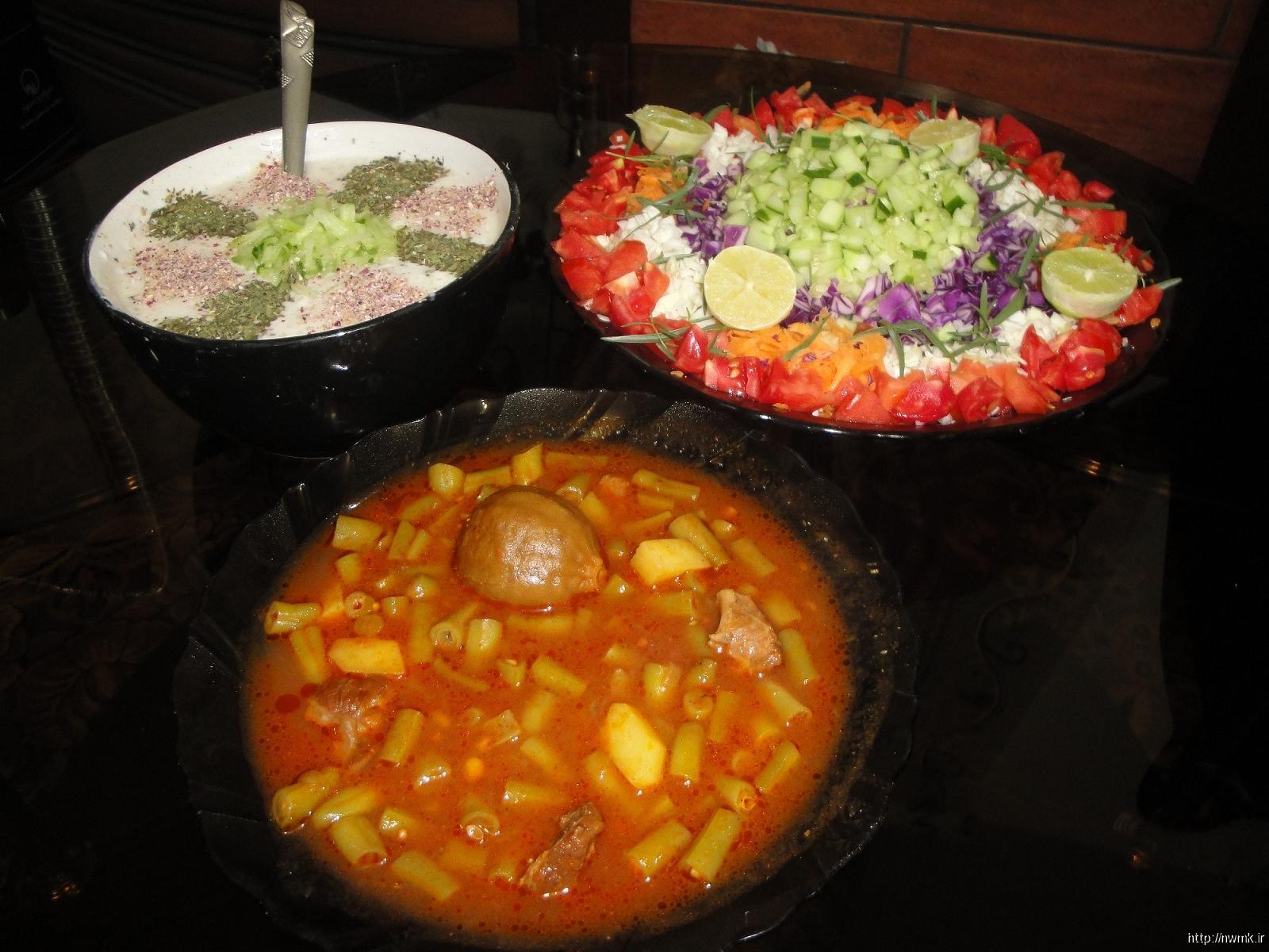 خورشت لوبیا و هویج