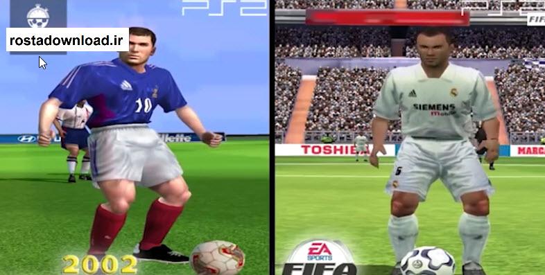 تغییر چهره جالب زیدان از فیفا 1996 تا 2017