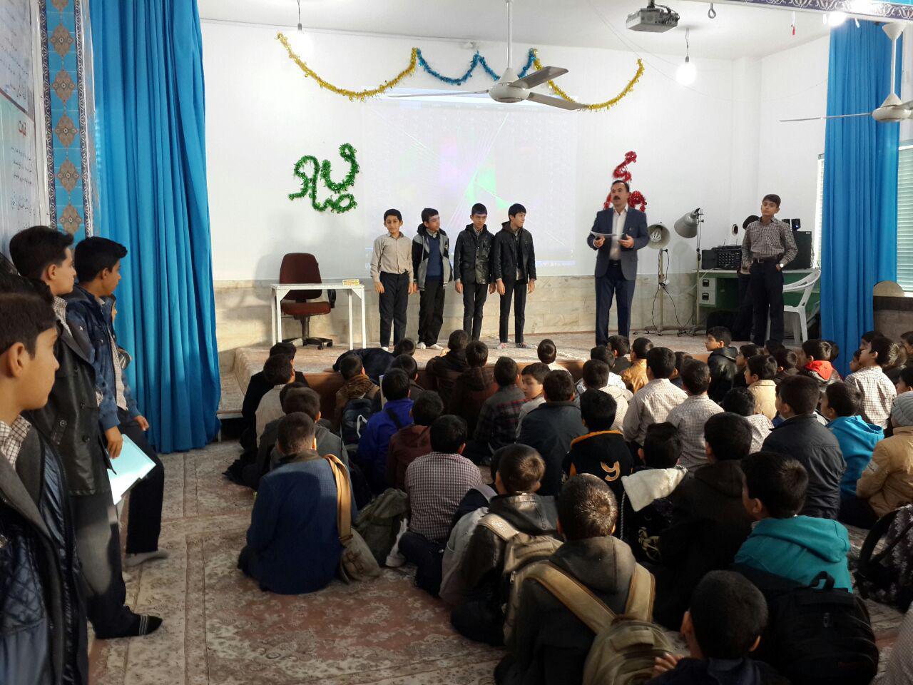 تقدیر از گروه برتر کلاس شهید احمدی روشن