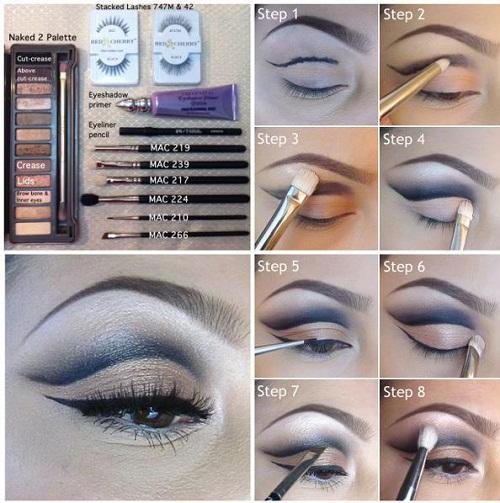 آموزش تصویری آرایش چشم,