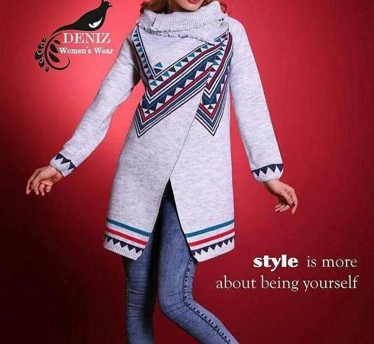 مدل مانتو بافتنی جدید دخترانه,