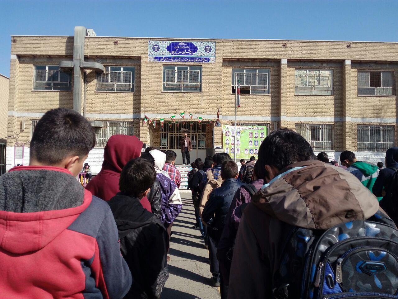مراسم سوگواری حضرت فاطمه زهرا سلام الله علیها در دبیرستان شهدای صنف گردبافان برگزار شد.