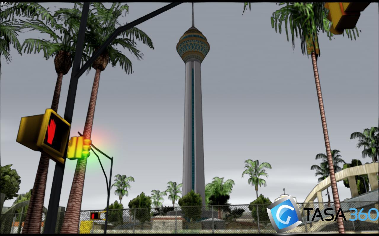 برج میلاد نسخه نهایی برای gta sa
