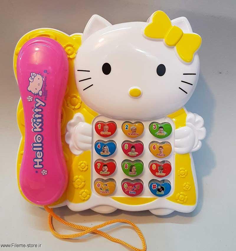 خرید تلفن اسباب بازی هلوکیتی hello kitty مدل 8625A