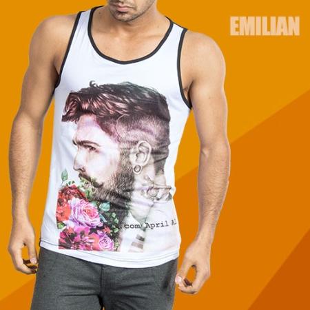 خرید رکابی طرح دار Emilian