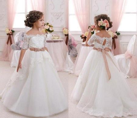 مدل لباس عروس بچه گانه,