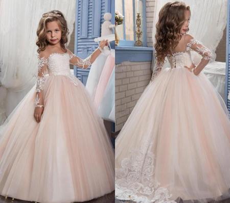 مدل لباس عروس بچه گانه شیک,