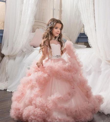 مدل لباس عروس بچه گانه دخترانه,