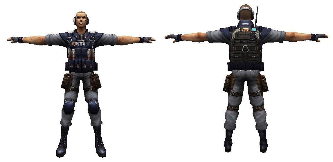 دانلود اسکین پلیر (CT) Battle Rush Soldier  برای کانتر استریک 1.6