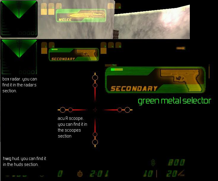 دانلود سلکتور Green Metal Selector برای کانتر استریک 1.6