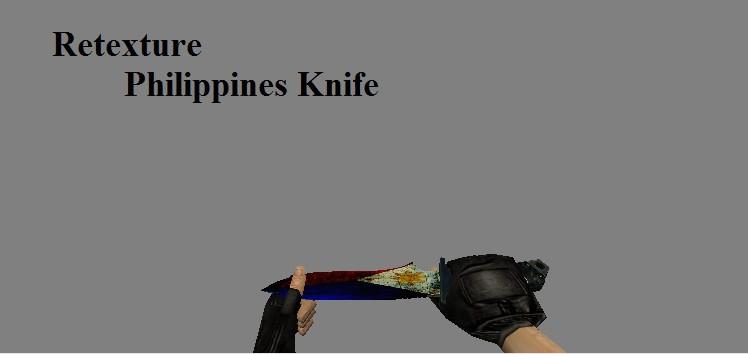 دانلود اسکین نایف Philippine Knife برای کانتر استریک 1.6