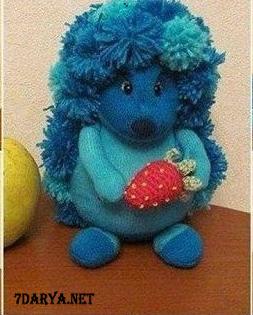 آموزش دوخت عروسک خارپشت با جوراب