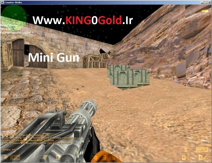 دانلود پلاگین MiniGun برای کانتر استریک 1.6 زامبی