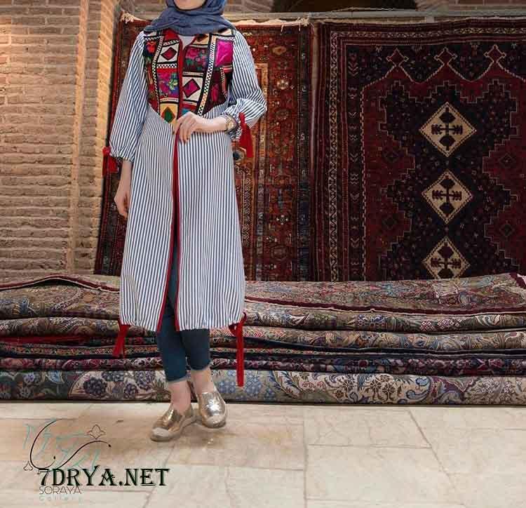 مدل مانتو سنتی دخترانه 96