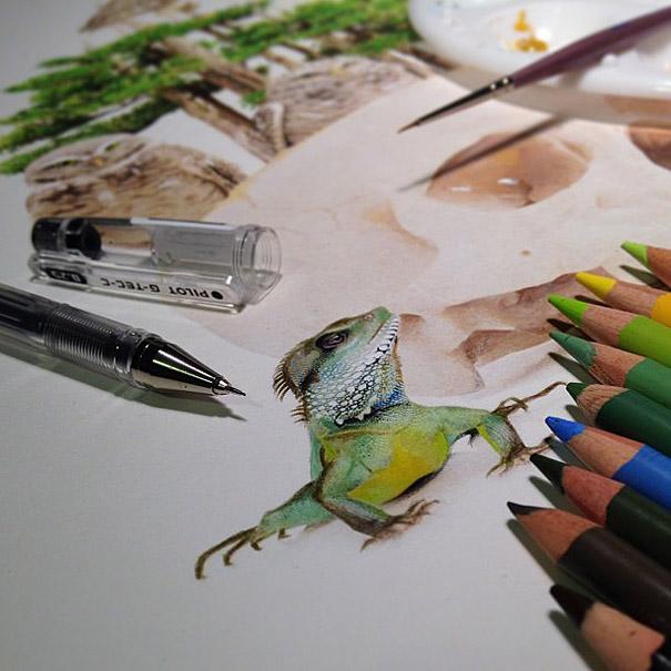 مدل نقاشی مداد رنگی2