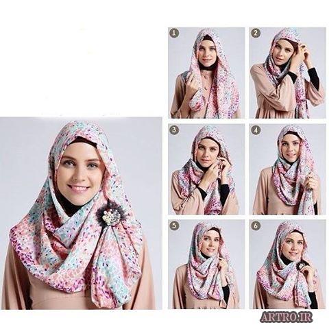 آموزش بستن شال و روسری دخترانه2