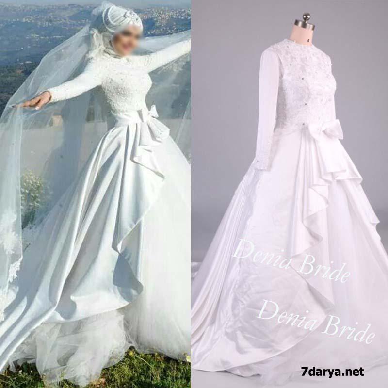 انواع مدل لباس عروس محجبه
