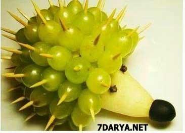 آموزش میوه آرایی خارپشت