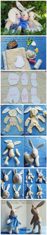 آموزش دوخت عروسک خرگوش2