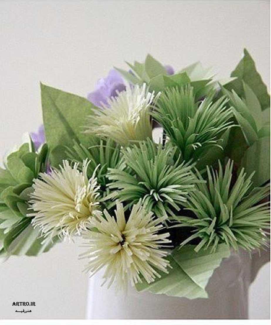 آموزش ساخت گل کاغذی زیبا