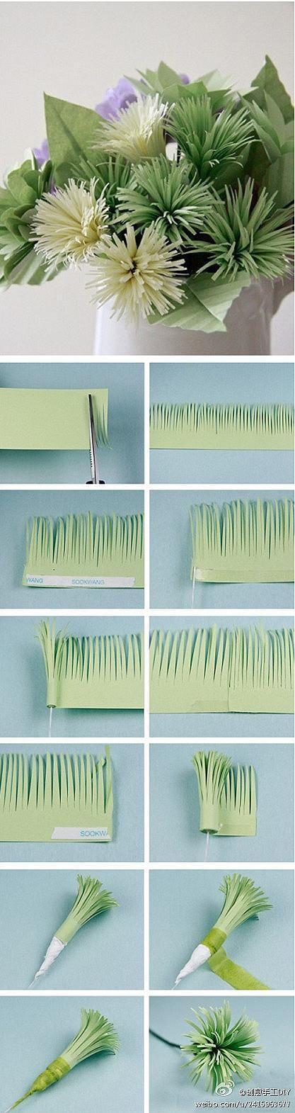 آموزش تصویری ساخت گل کاغذی