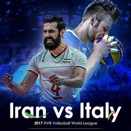 نتیجه بازی والیبال ایران و ایتالیا 12 خرداد 96 | فیلم خلاصه
