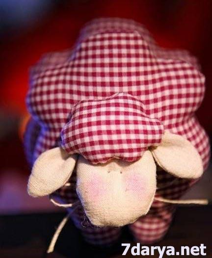 آموزش دوخت عروسک پارچه ای گوسفند