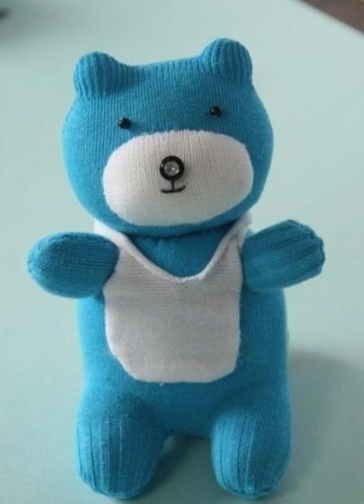 آموزش دوخت عروسک خرس با جوراب