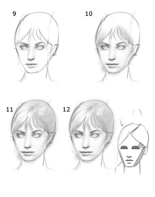 آموزش کشیدن چهره با مداد5