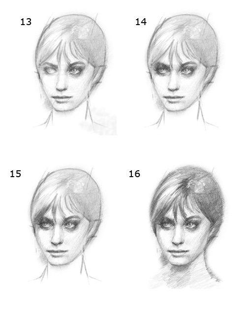 آموزش کشیدن چهره با مداد6