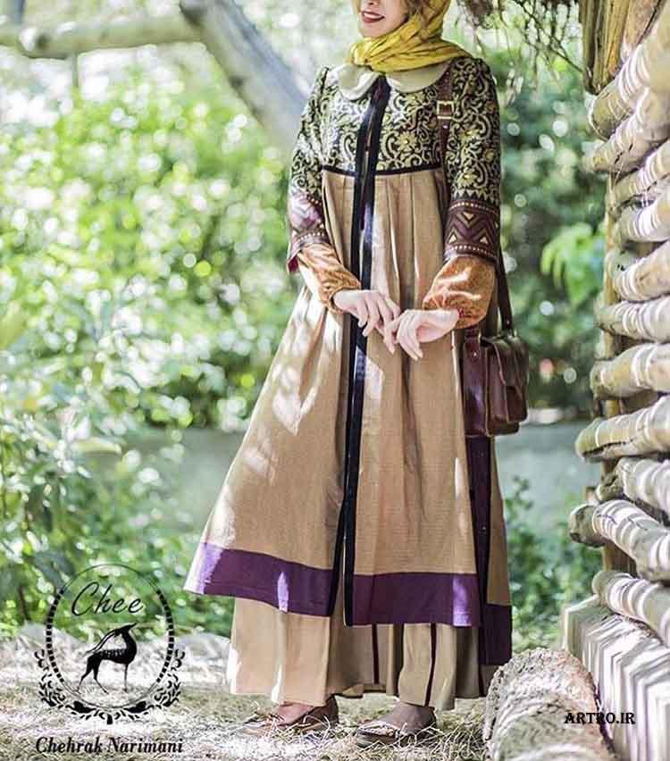 مدل مانتو بلند ایرانی2017