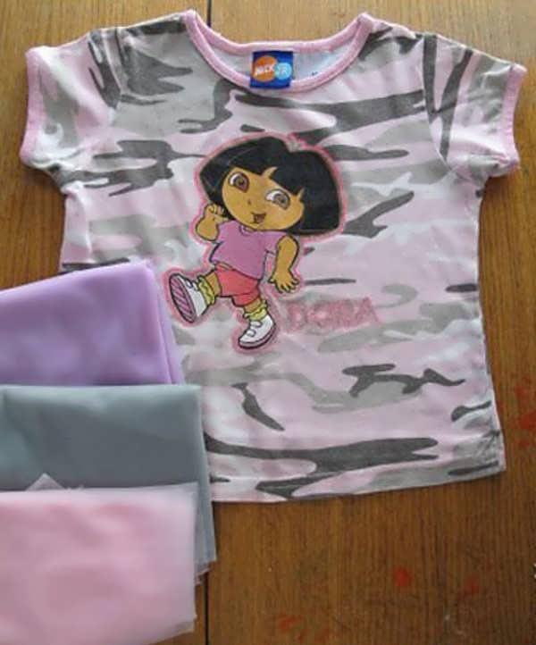 آموزش دوخت لباس بچه بدون الگو1