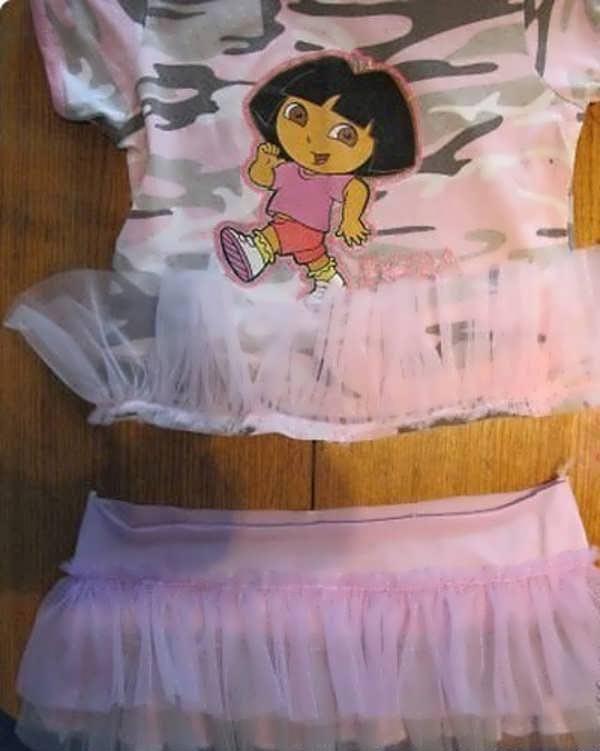 آموزش دوخت لباس بچه بدون الگو7