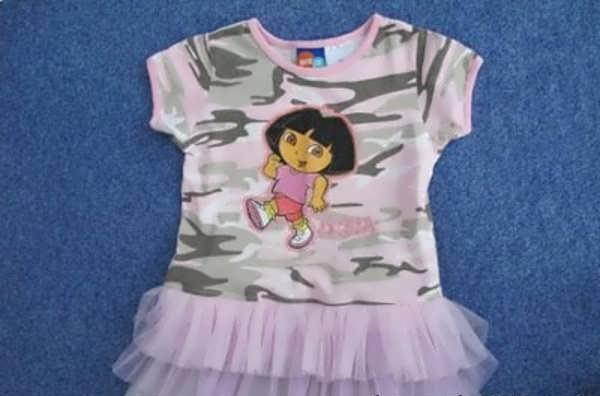 آموزش دوخت لباس بچه بدون الگو9