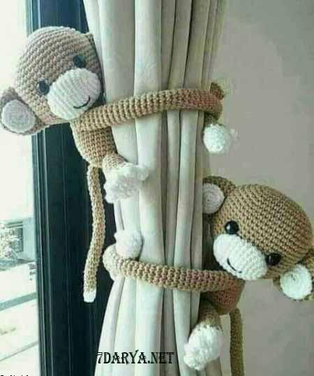 آموزش بافت عروسک میمون بازیگوش