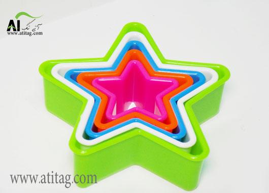 خرید قالب طرحدار ستاره و دایره ای کیک و شیرینی