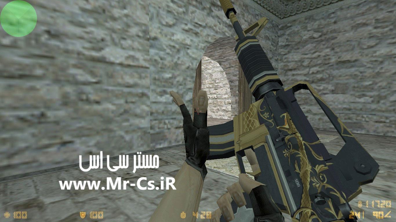 دانلود اسکین گرافیکی M4a1 | Golden Coil برای سی اس 1.6