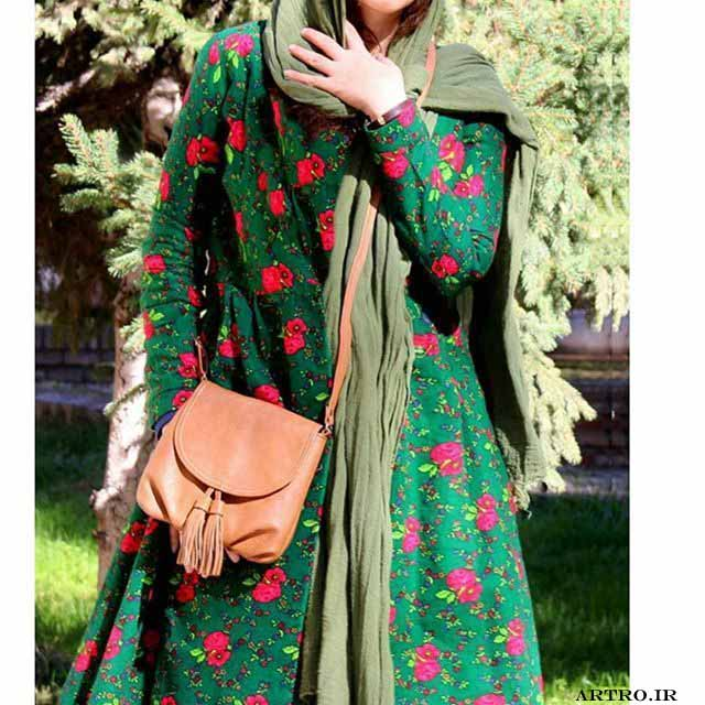 مدل مانتو نخی تابستانی گلدار 96