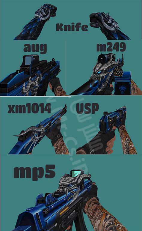 دانلود پک اسکین های فانتزی Blue Balrog سی اس 1.6