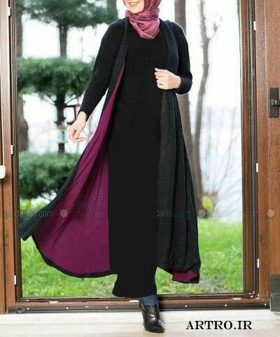 مدل مانتو بلند زنانه مجلسی شیک97