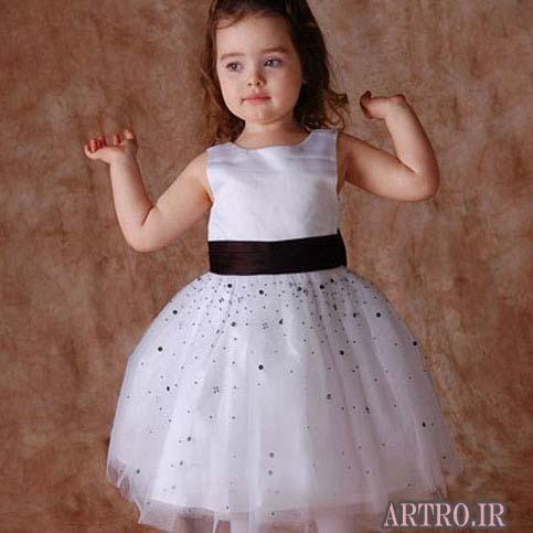 مدل لباس عروس بچه گانه  2017,