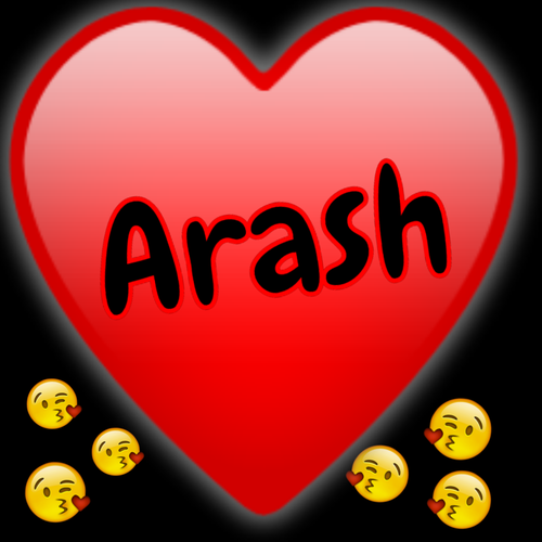 طرح گرافیکی اسم لوگو اسم آرش برای پروفایل