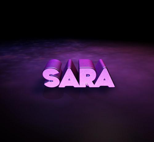 طرح گرافیکی لوگو اسم سارا برای پروفایل