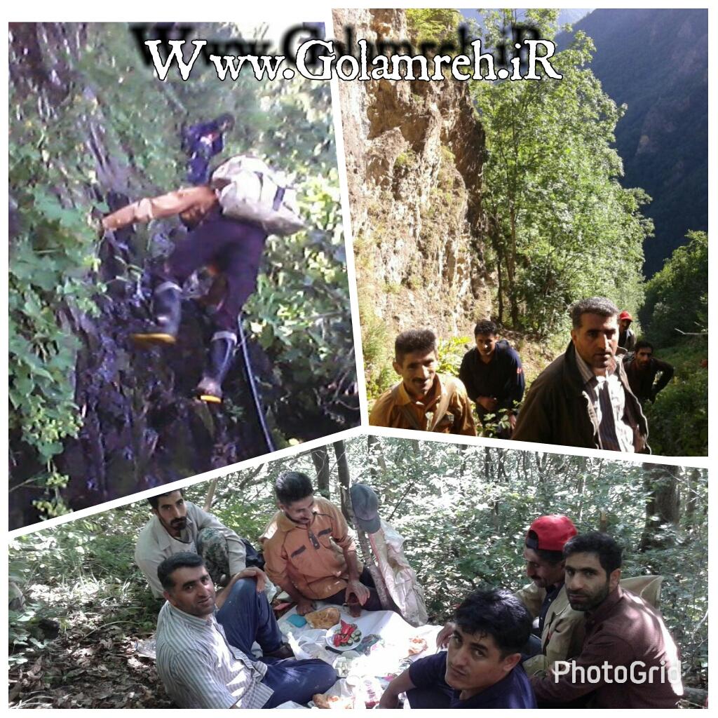 عملیات آبرسانی به روستای گلامره در تاریخ ۱۳۹۶/۰۵/۱۳