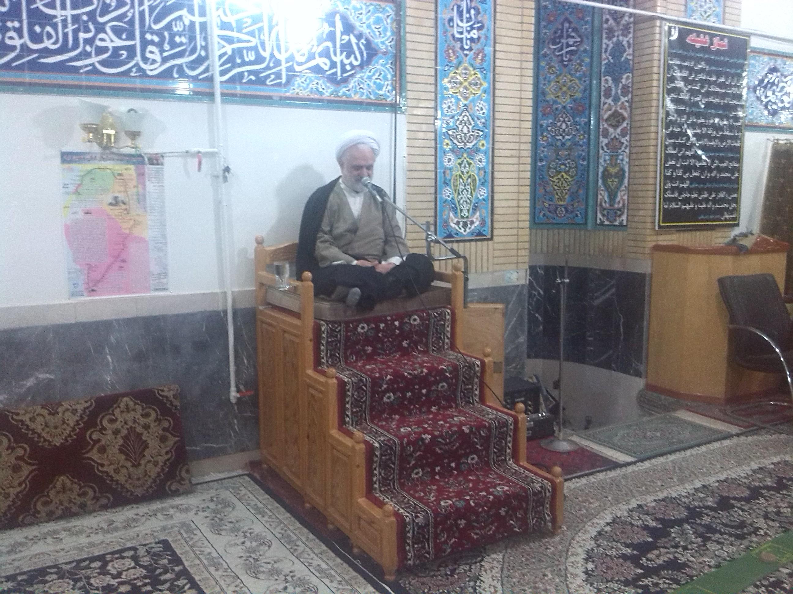 سخنرانی حاج آقا عبدالحمید عبدالاحد در جمع بسیجیان