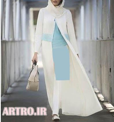 جدیدترین مدلهای مانتو بلند دخترانه97