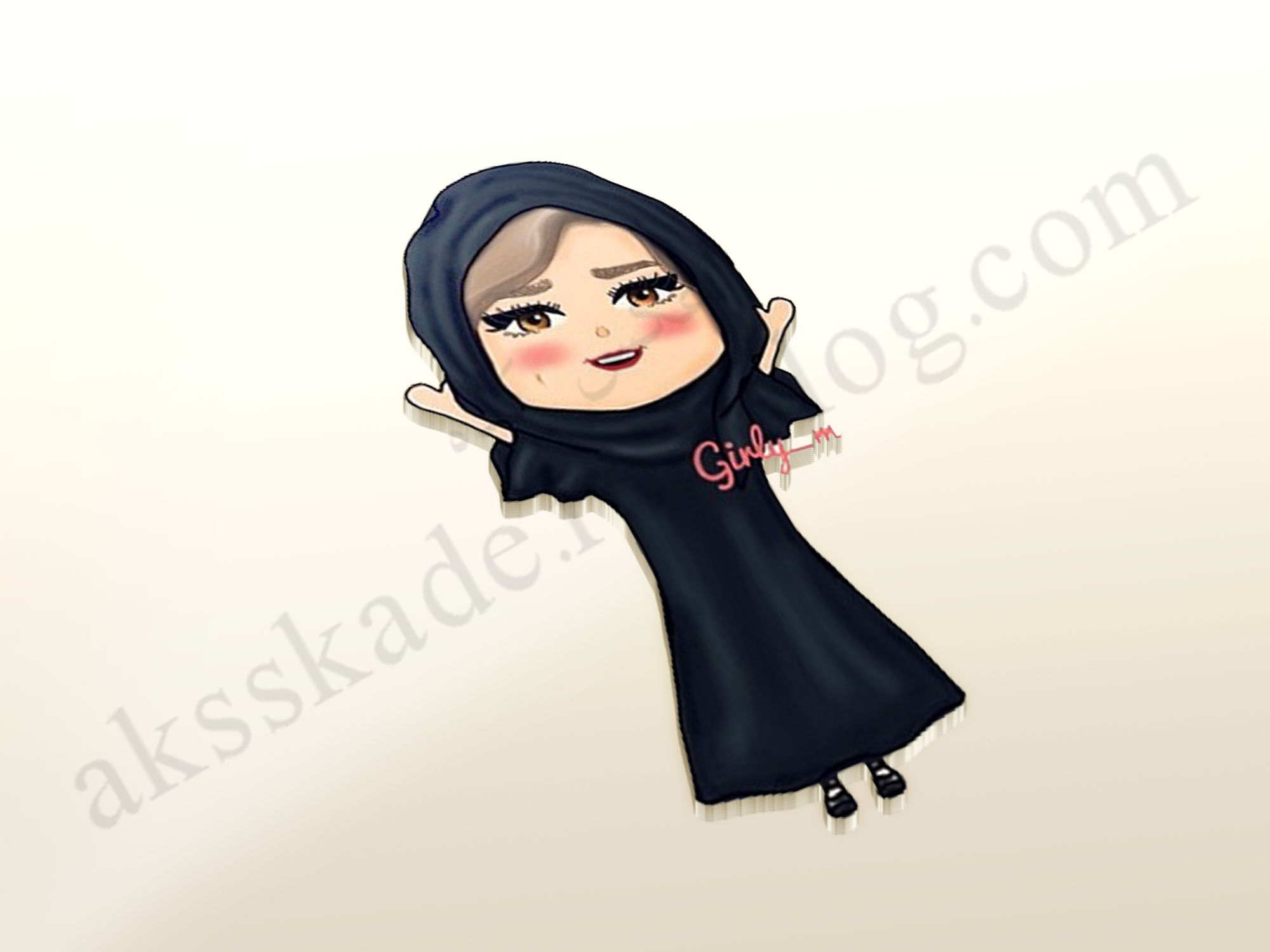 دختر حجابی پروفایل